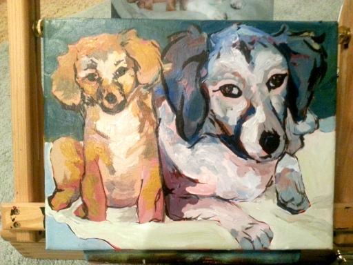 acrylic on canvas, 8 x 10.
