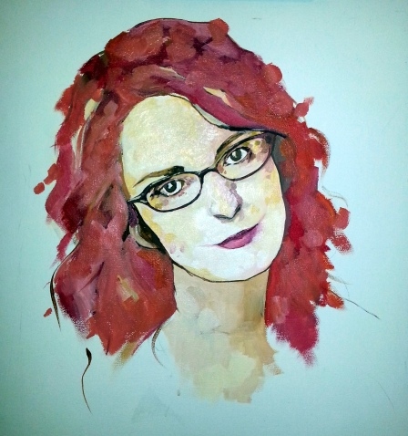 acrylic on canvas, 18 x 24.