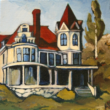 Acrylic on canvas, 6 x 6.